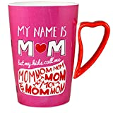 Joiedomi My Name is Mom Funny Quote Ceramic Coffee Mug Mother's Day Gift - Gift for Mom
