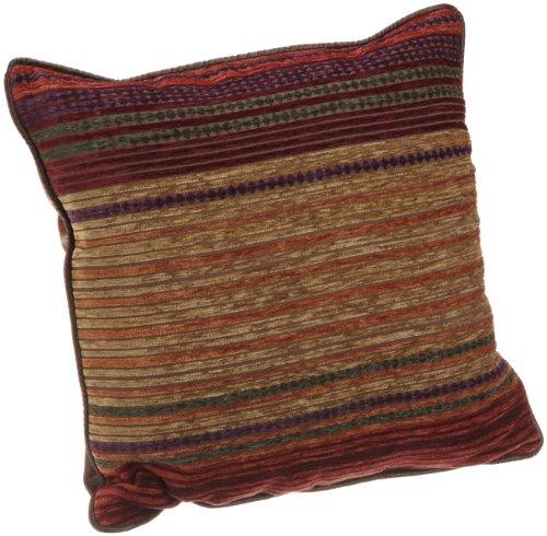 Croscill Plateau Square Pillow, 18-inch by 18-inch, Multi