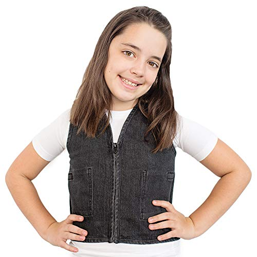 Fun and Functions Stretch Denim Weighted Vest to reduce Wiggles, Fidgets, Anxiety
