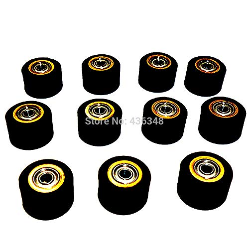 FINCOS 1/2/3/4/5/6/10pcs 3mmx11mmx16mm Pinch Roller Wheel for Roland Vinyl Plotter Cutter Extra Long Life Wheel Bearing Paper - (Color: 10pcs) by FINCOS (Image #2)