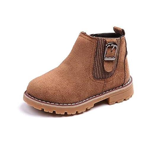 Botas de Invierno para niños Martin Botas de Metal para niños Botines para niñas Botas de tacón bajo Casual: Amazon.es: Zapatos y complementos