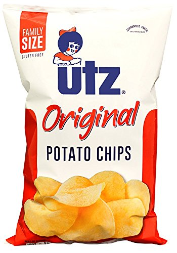 Utz Potato Chips, Regular, Regular, 9.5 oz Bag (Potato Chips Low Salt)
