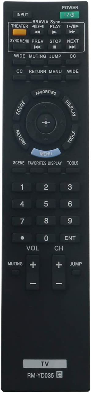 New Replacement Remote Control for TV sony KDL-32S3000