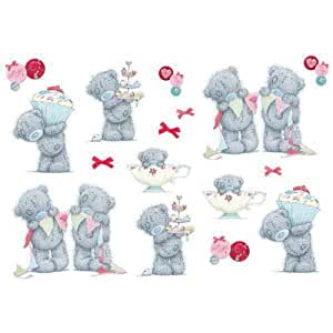 amazon com funtosee tatty teddy wall decals tea party related pictures giant teddy bear dogs picture pictures to