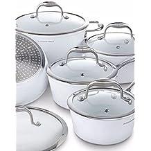 Lagostina Bianco Ceramic Forged Cookware Set, 10-pc