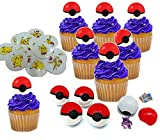 Cupcake Toppers With Surprise Toy Figure Hidden Inside And Pikachu Tattoos