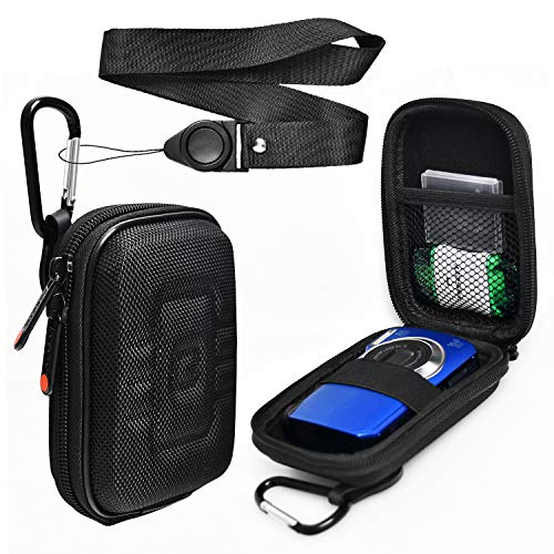 Compact Digital Camera Case Compatible for Canon ELPH 180 360 PowerShot G9X G9X Mark II SX620 HS, Sony DSC-W800 W830, Nikon COOLPIX A10 S6800 (Best Case For Canon G9x)