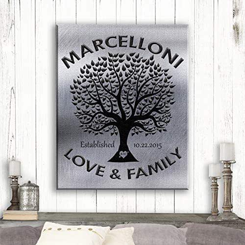 Family Tree Wedding Gift: Amazon.com: Love And Family Tree, Gift For Couple, Tin