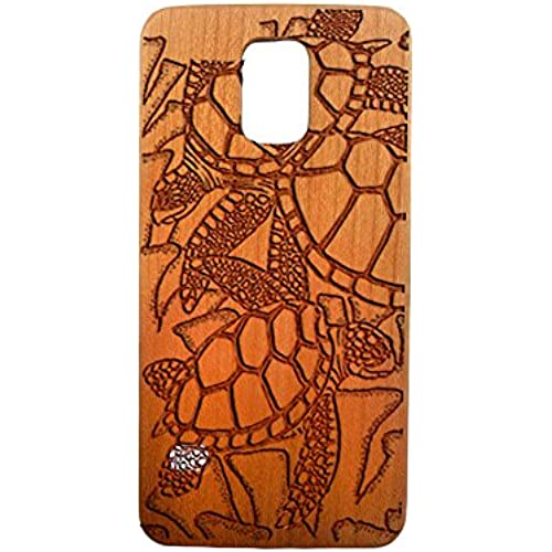 Sea Turtles, Galaxy S7, S6, S6e, S5, S4, Laser Engraved Genuine Wood Case (S5 Cherry) Sales
