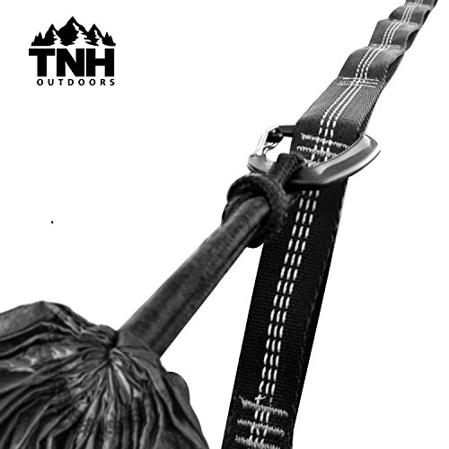 Camping Hammock Tree Straps by TNH Outdoors with Lumin Stitch Technology & High VIZ. Adjustable, Portable and Lightweight 9 ft Heavy Duty XL Hammock Straps To Enhance Your Hangout.