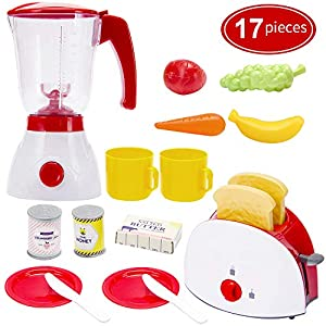 TOY Life Toy Blender and Toy Toaster with Pretend Play Kitchen Accessories for Toddlers Set | Cooking Toy Kitchen…