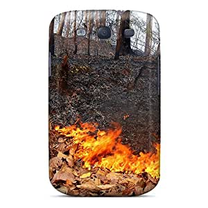TCkfZaPY4642 Tpu Case Skin Protector For Galaxy S3 Forest Fire With Nice Appearance