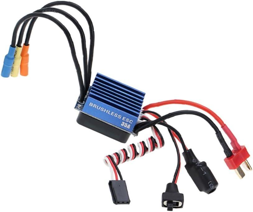 gen/¨/¦rico 35A Waterproof Brushless ESC para 1//16 1//14 1//12 RC Coche