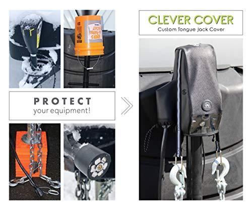 [해외구매대행 $39 95] Trailersphere Clever Cover for Atwood Jack Custom Electric  Tongue Jack Cover for Trailer, RV, Camper, Chains Holder, Plug Protector,