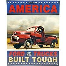 Ford Trucks Value Tough Vintage Tin Sign Advertising