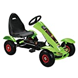 FoxHunter T-REX Green Outdoor Gokart | Kids Pedal Gocart | Toy Kart Racing Car | Adjustable Seat | Fun Handbrake Hotwheels Go-kart G03
