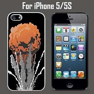 Nuke Bomb Mushroom Cloud Custom Case/ Cover/Skin *NEW* Case for Apple iPhone 5/5S - White - Rubber Case (Ships from CA) Custom Protective Case , Design Case-ATT Verizon T-mobile Sprint ,Friendly Packaging - Slim Case