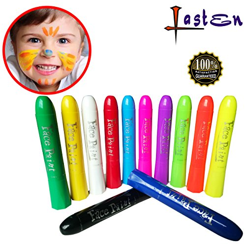 Lasten Crayon Face Paint, Washable Crayons,Twist Crayon Washable,Non Toxic Crayons for Toddlers, Kids and Adults and More (12 - You Shape Have Do Face What