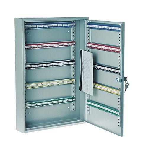 Rottner 1508 S100 Large Key Cabinet for 100-Keys with Adjustable Hooks Strips - Light grey by Rottner