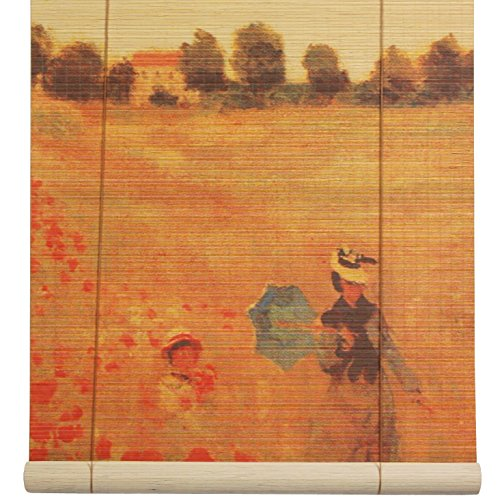 Oriental Furniture Poppies Bamboo Blinds - (72 in. x 72 in.)