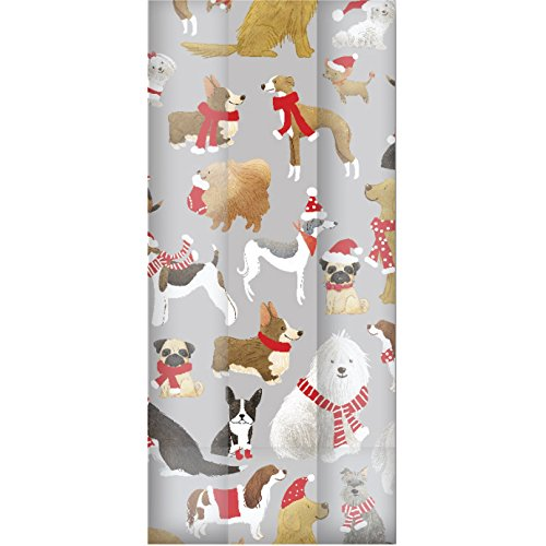 Jillson & Roberts Small Cello Bags with Twist Ties, Santa's Helpers by Jillson Roberts