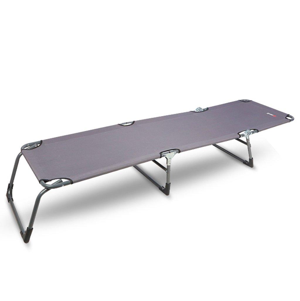Graue Aluminiumtube-Zusatzbett-einzelnes Bett-Büro-Sommer-Nap-Bett-bequeme Klubsessel-Lager-Bett 192  56  29 cm