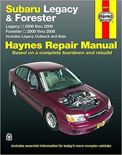 subaru baja turbo wiring schematic subaru legacy 2000 2009   forester 2000 2008 repair manual  haynes  subaru legacy 2000 2009   forester 2000