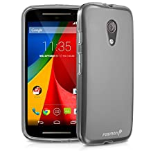 Fosmon® Motorola Moto G 2014 (2nd Gen) Case (DURA-FRO) Slim-Fit Flexible TPU Gel Case Cover for The New Motorola Moto G (2014) - Fosmon Retail Packaging (Clear)