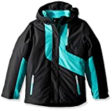 Spyder Girl's Reckon 3-In-1 Jacket, Black/Baltic, Large
