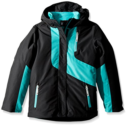 Spyder Girl's Reckon 3-In-1 Jacket, Black/Baltic, Large by Spyder
