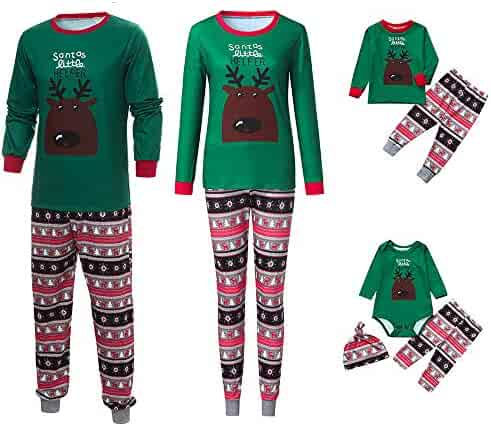 9a62c403b Family Pajamas Sets Matching Christmas Pajamas Xmas Snowflake Sleepwear  Sets Nightwear Adults Kids Pajama PJ Set