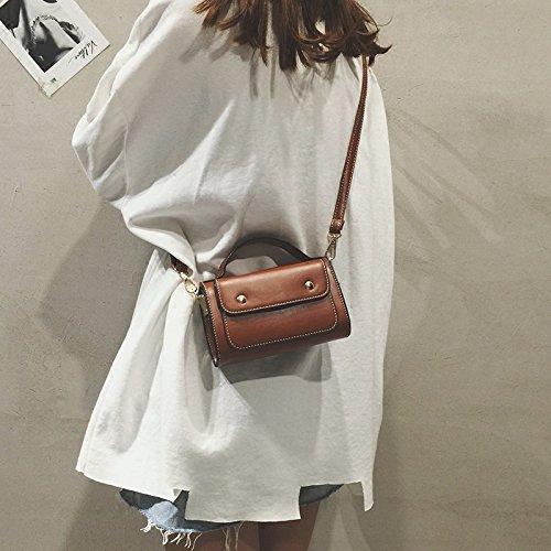 black C Chi Bolso ZHANGJIA Moda de Bolsa Brown 0aR5wUx