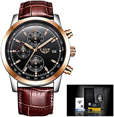 2018 LIGE Quartz Watch Men Top Brand Luxury Casual Watches Leather Mens Military Sport Chronograph Waterproof Clock Herrenuhr,Reloj para Hombres,Orologio ...
