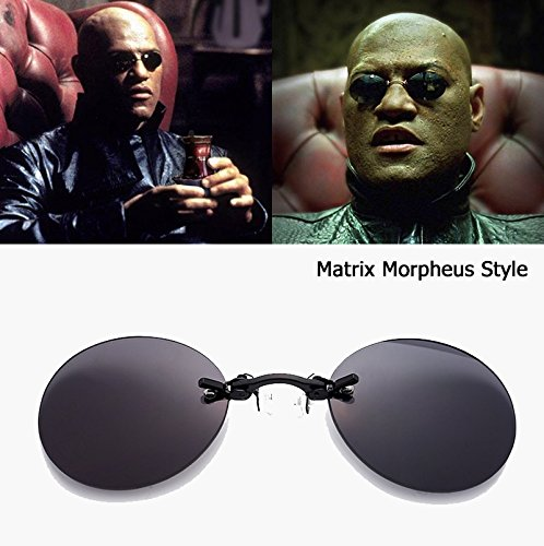The Fashion borde Matrix Morpheus Aprigy de sol Style sin hombre Roumd Gafas para AOqwHC
