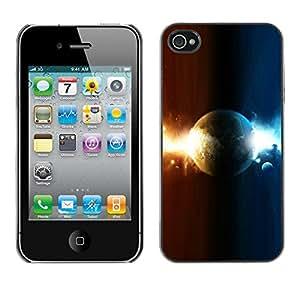 Planeta Dual - Metal de aluminio y de plástico duro Caja del teléfono - Negro - iPhone 4 / 4S