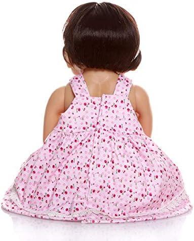 TERABITHIA 22 Zoll 55 cm Nette Handgemachte Ganzkörper Silikon Vinyl Reborn Babypuppen Real Life Neugeborenen Süße Mädchen Puppe Badespielzeug Waschbar Anatomisch Richtig