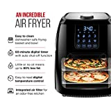 Chefman Digital Air Fryer+ Rotisserie, Dehydrator, Convection Oven, 8 Presets to Air Fry, Roast, Dehydrate, Bake & More, Accessories Included, 6 Liter