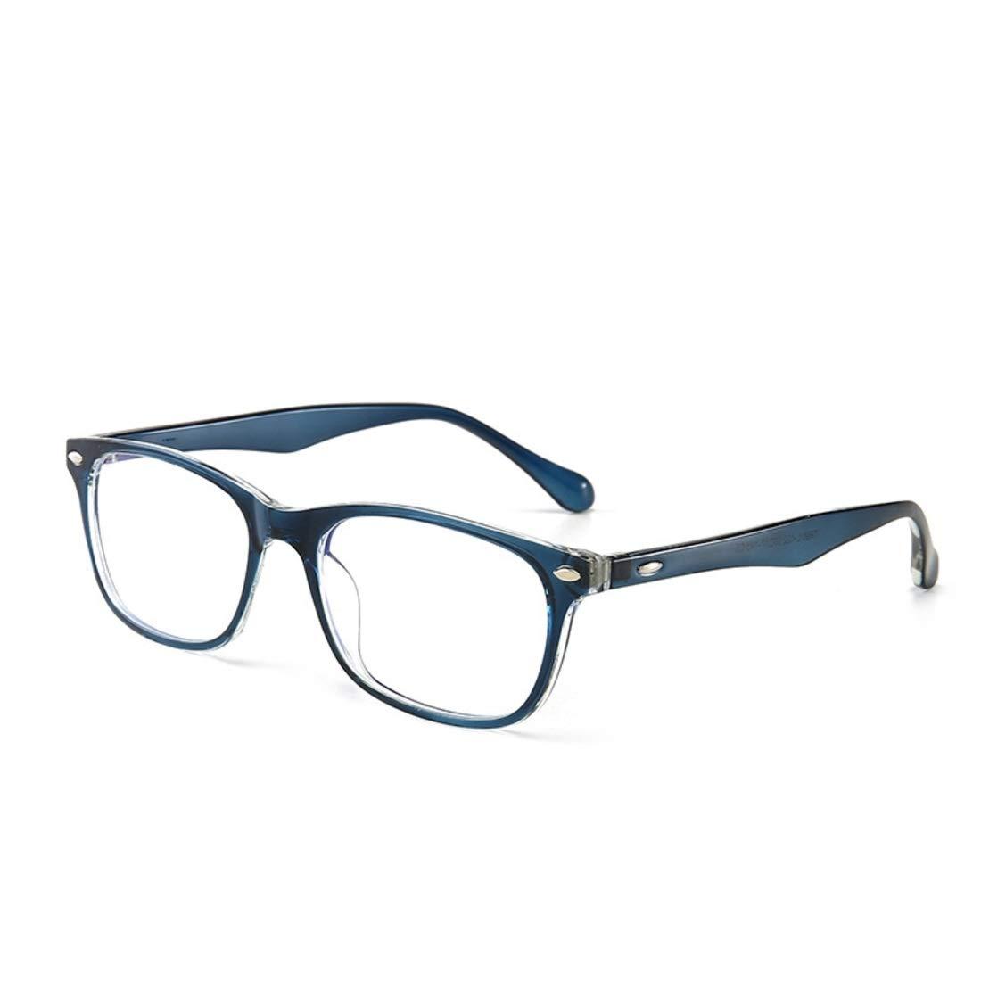 Color : Brown Yajiemei Anti-blue Light Retro Glasses Anti-radiation Glasses Non Prescription Glasses For Women Men