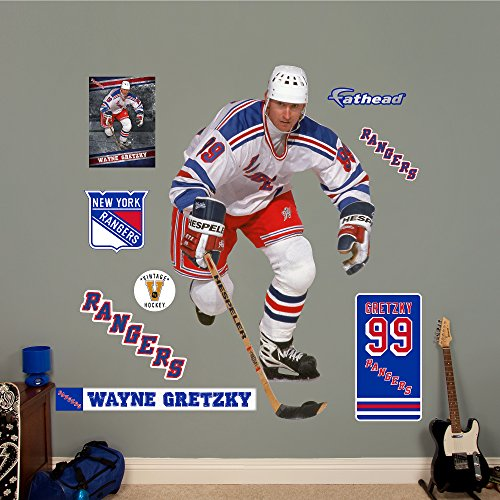 Fathead NHL New York Rangers Wayne Gretzky: Rangers - Life-Size Officially Licensed NHL Removable Wall ()