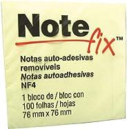 Bloco De Recado Notefix, 76x76mm, Amarelo, 100 Folhas, 3M