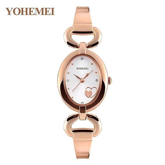 MOZISEN Relojes Deportivos,Reloj de Moda La Sra. Brand Pulsera Watch Simple Trend Sra. Moda Impermeable Mujeres Niñas Reloj de Cuarzo: Amazon.es: Relojes