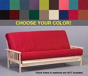 black premium futon cover   queen size amazon    black premium futon cover   queen size  home  u0026 kitchen  rh   amazon