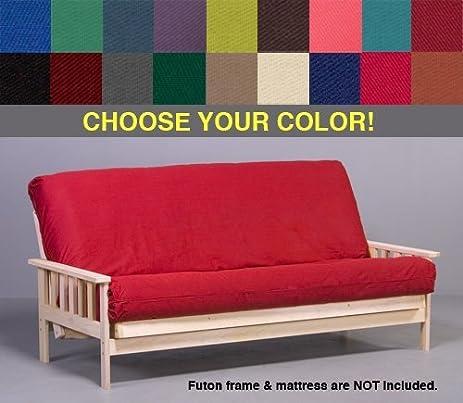 navy blue premium futon cover   queen size amazon    navy blue premium futon cover   queen size  home  u0026 kitchen  rh   amazon