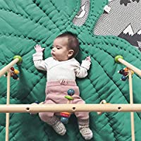 lightclub 110cm Baby Infant Soft Cotton Crawling Mat Leaf Shaped Blanket Room Decoration Green