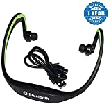 Captcha MPBL-020 Wireless Lightweight Workout In-Ear Headphone With Microphone Behind-The-Neck Band Headset For All Android/Iphone Devices (Color May Vary)