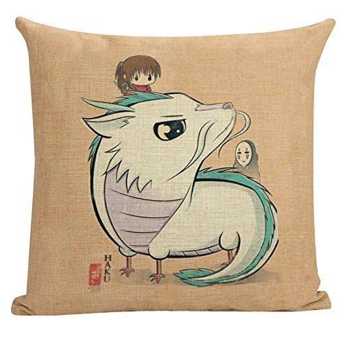 Away Pillow (Warm-life New Style Spirited Away Throw Pillow Cover (Spirited Away3))