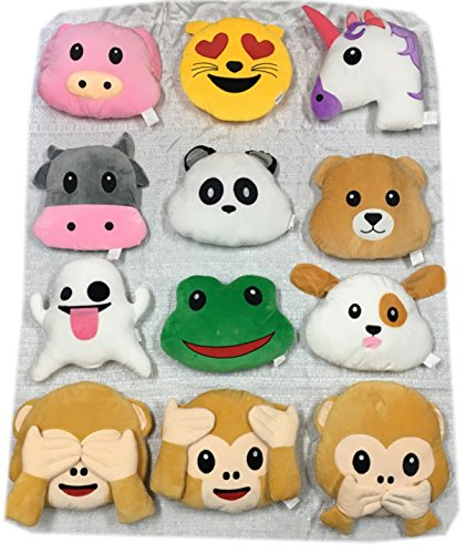 Gloworks Emoji Animal Pillows Set (24) by Gloworks