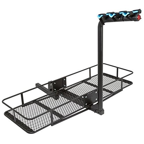 2-Bicycle 60″ Folding Cargo Carrier Basket Rack Combo for 2″ Hitches Best Deal