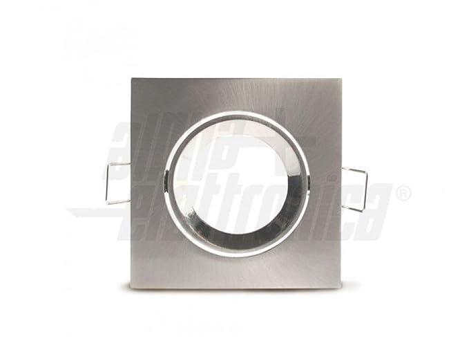 Faretto quadrato orientabile lucido gu mm amazon