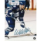 Wendel Clark Autographed 8X10 Photo (Blue Jersey)